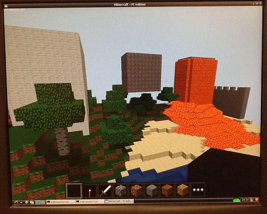 Minecraft Pi Edition landscape